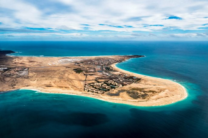 Aerial view of Santa Maria in Sal Island Cape Verde – Cabo Verde