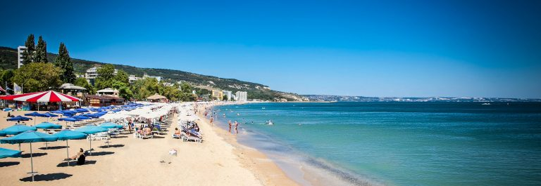 Panoramic view on Varna beach on Black sea in Bulgaria shutterstock_128742680-2