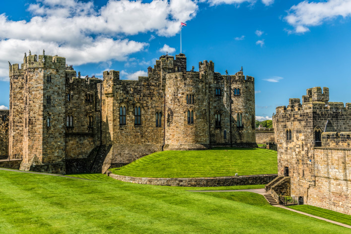 Alnwick Castle, een van de Harry Potter sets