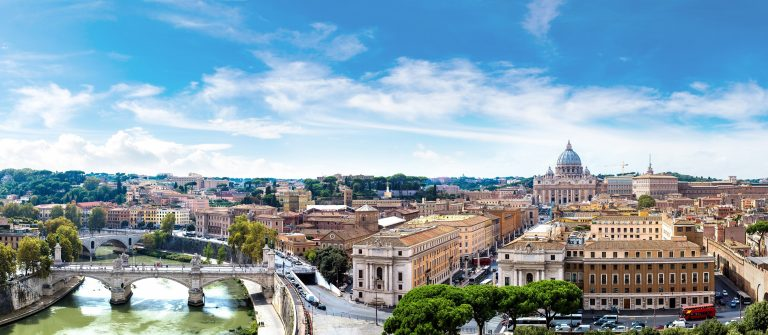 Panorama over Rome