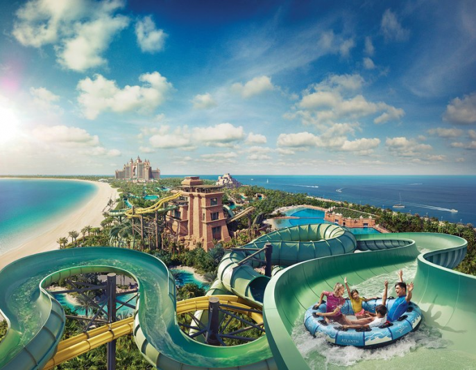 het waterpark bij atlantis the palm