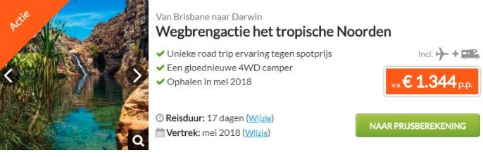 Wegbrengactie Brisbane Darwin WTC screenshot
