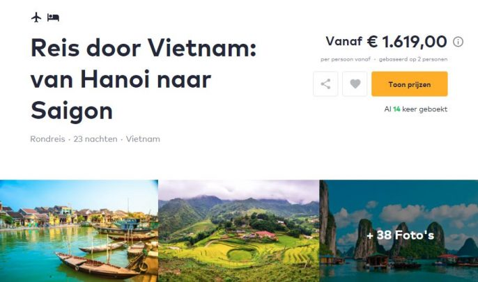 Screenshot rondreis Vietnam Travelbird
