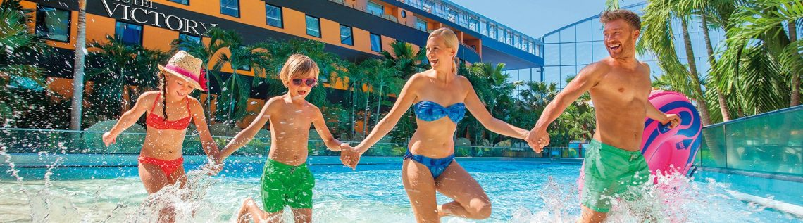 Familie in therme Erding