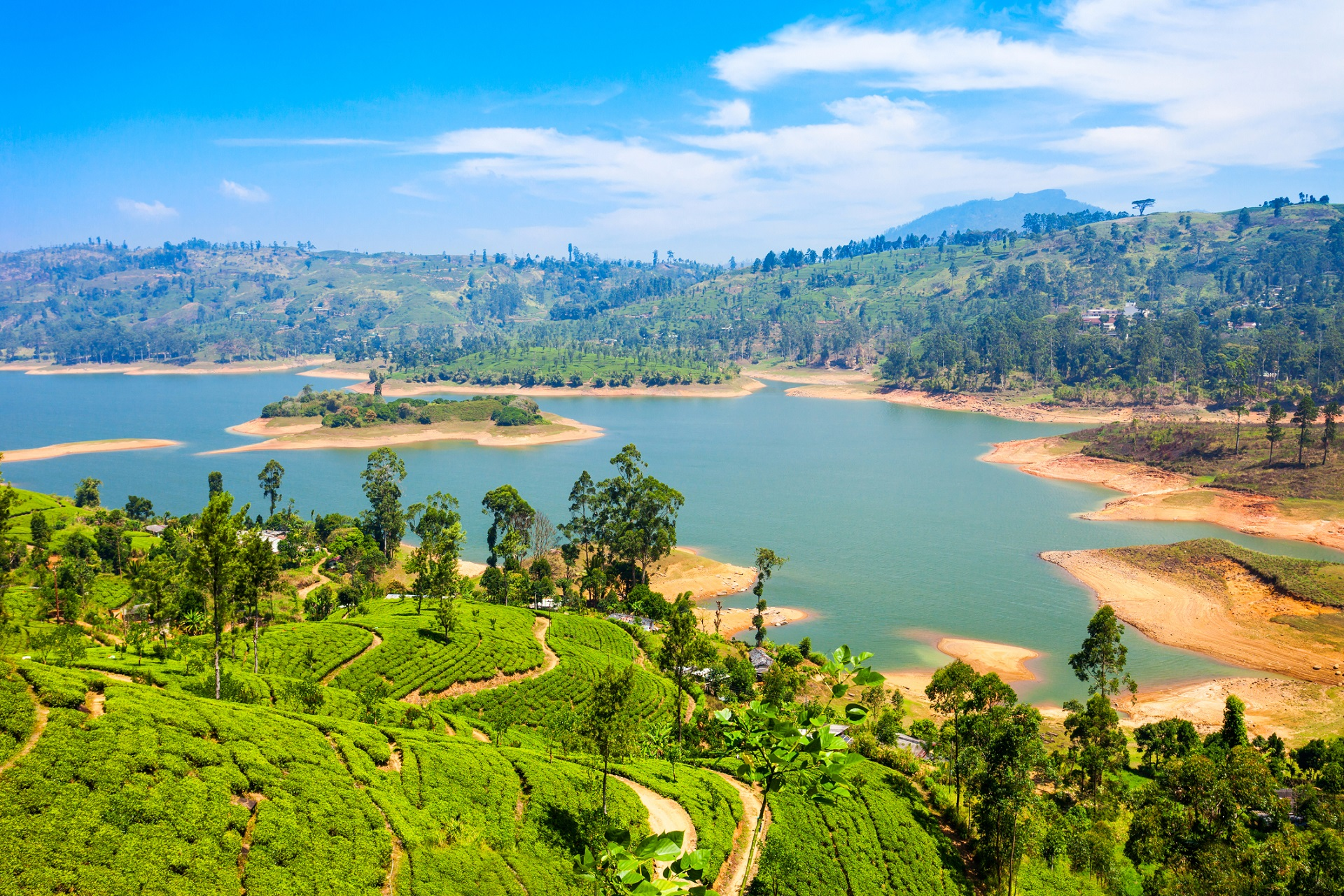 Maussakelle reservoir in Sri Lanka