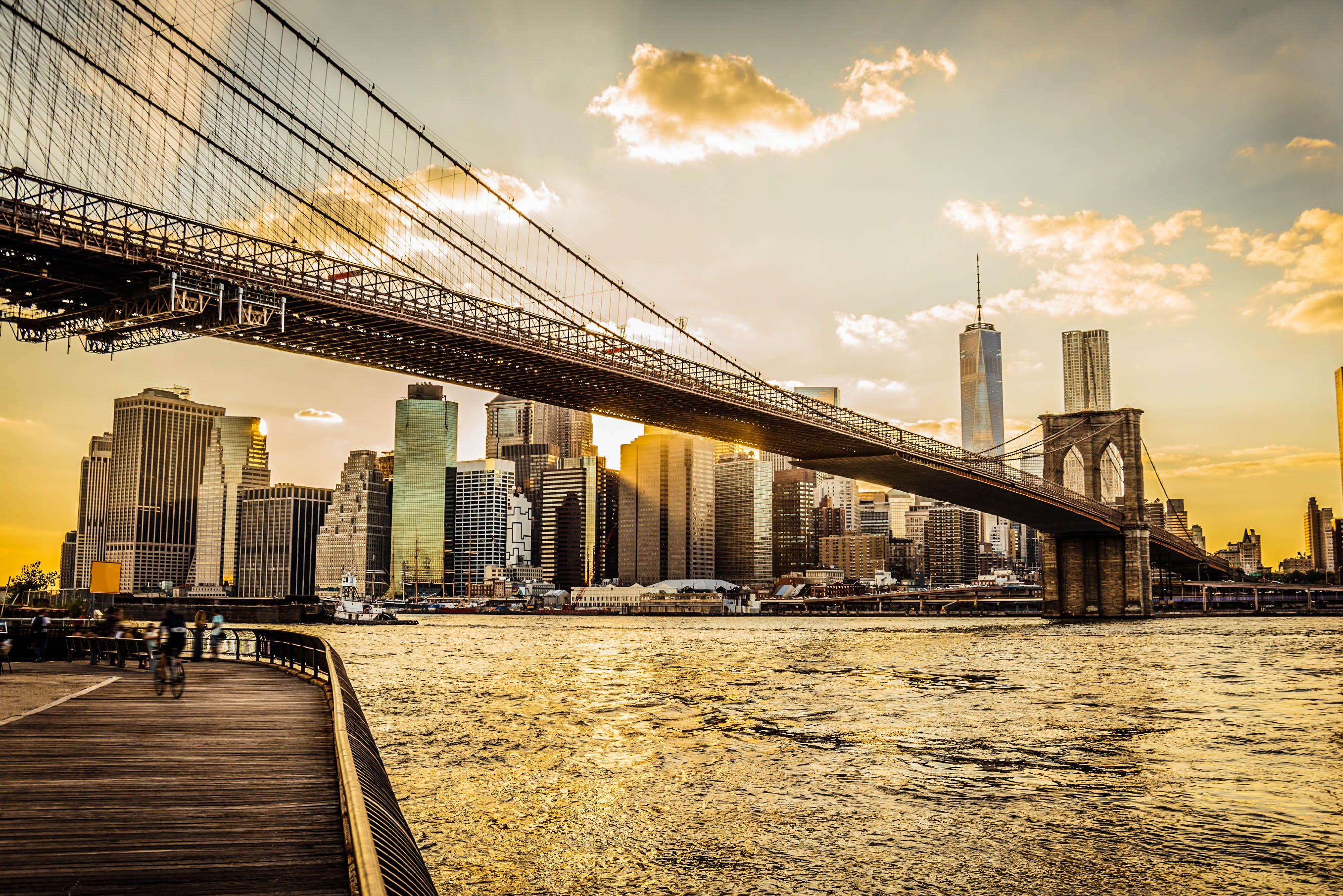 Brooklyn Bridge en Manhattan