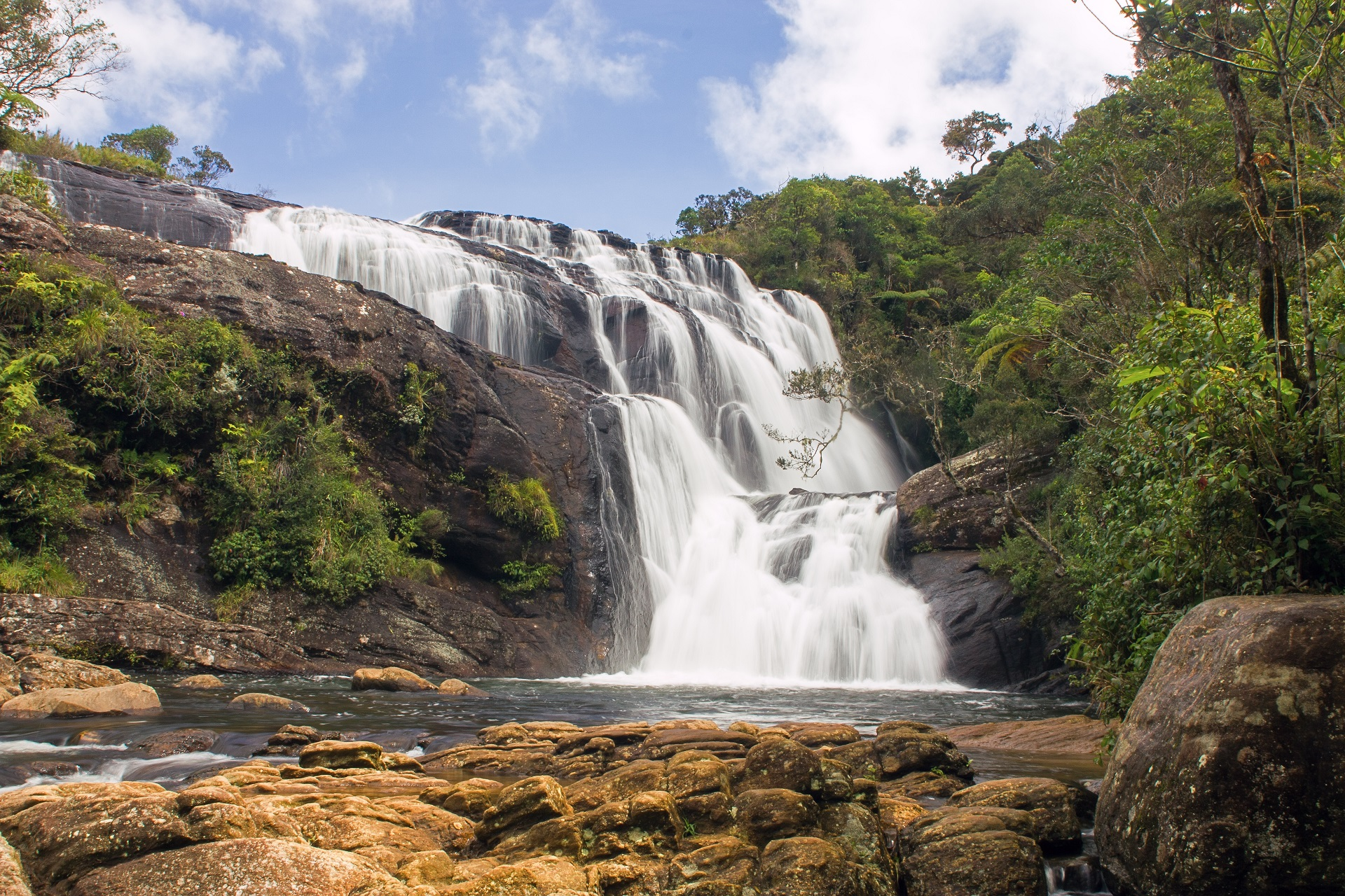 Baker's Falls in Horton Plains National Park
