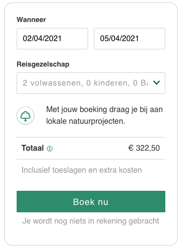 Screenshot van deal